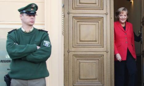 Disturbed stalker breaks through Merkel's security