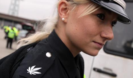 Pot cops sport marijuana-leaf uniforms