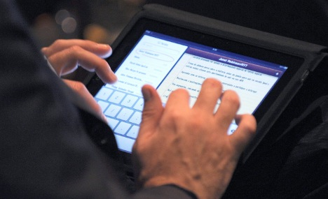 MPs allowed iPads in Bundestag