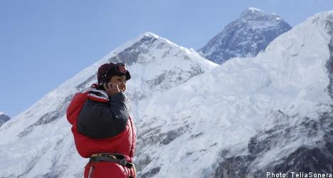 TeliaSonera helps launch 3G on Mount Everest