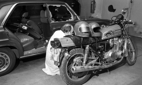 Motorcycle used in RAF killing turns up in private garage