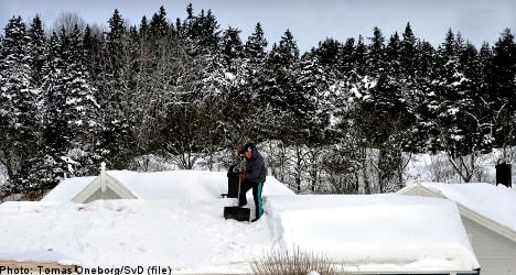Swedish weather agency issues snow warning
