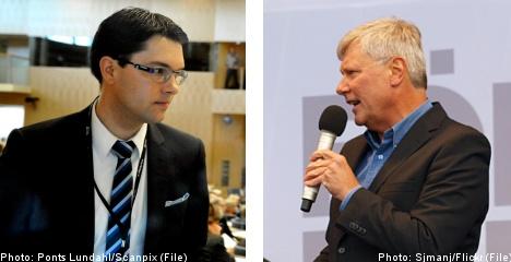 Sparks fly in first Left- Sweden Democrat duel
