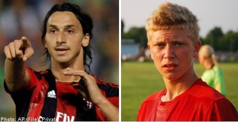 Zlatan stuns Swedish teen with AC Milan trial
