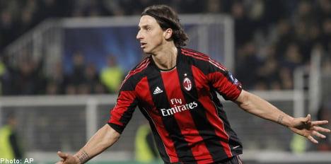 Zlatan strike ensures Milan advance in Champions League