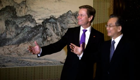 Westerwelle urges Europe to look to China