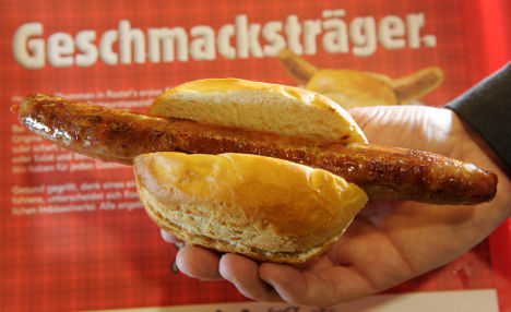 Toasting the best wurst ever