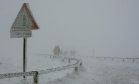 Snowstorm buries Harz Mountains