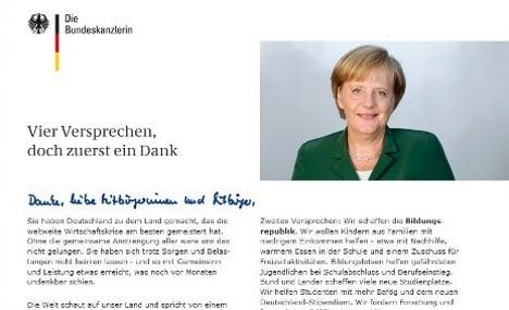 Taxpayer group slams Merkel's pricey ads thanking Germans