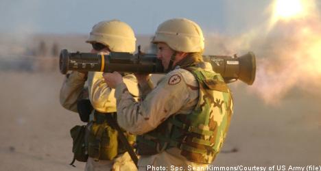 Swedish weapons used by Iraqi army
