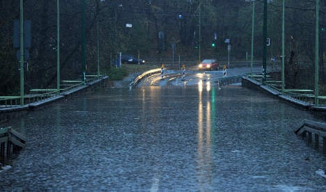Floods close motorways as leaves and rain cause chaos