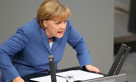 Merkel attacks 'obstructionist' Greens