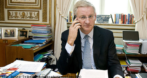Bildt denies US contact on Assange extradition
