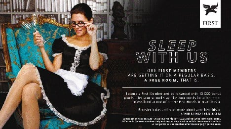 Hotel ad cited for inviting guests to 'sleep with us'