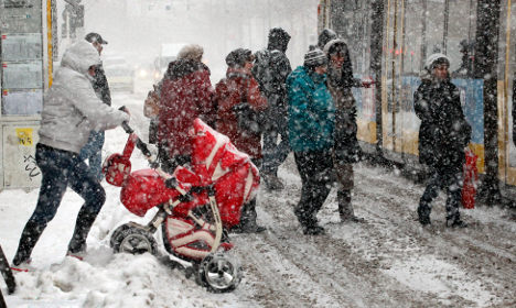 Snow wallops Germany