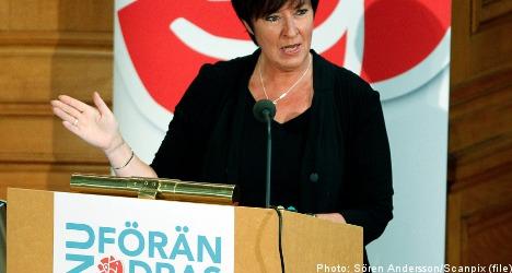 Sahlin criticises Social Democrats' job policy