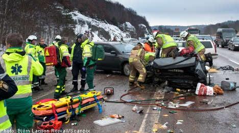 Mystery car wrecks send 13 to hospital