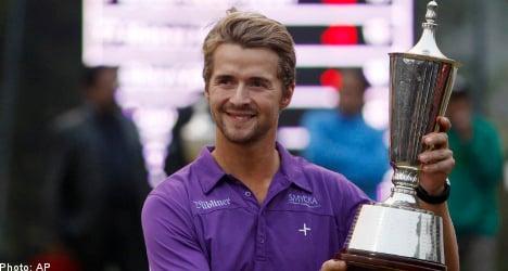 Sweden's Karlberg wins golf's Indian Open