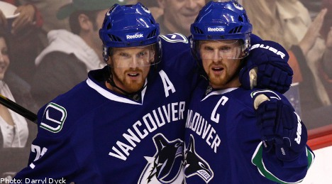 Swedish Sedin twins face off in NHL all-star game