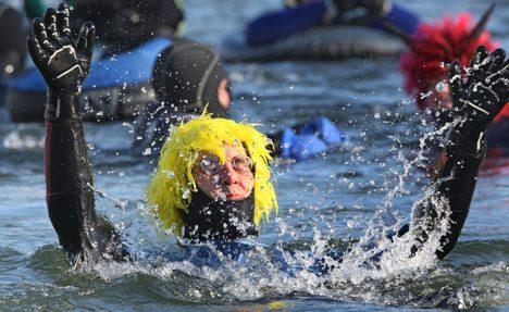 Danube town hosts Europe's biggest winter swim carnival