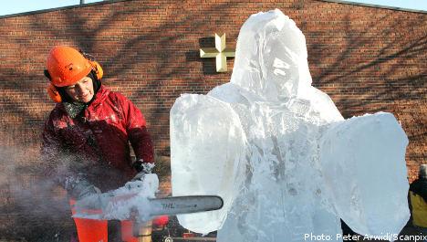 Swedish town unveils ice cool Jesus