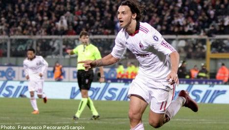 Zlatan scores winner as Milan sets Serie A pace