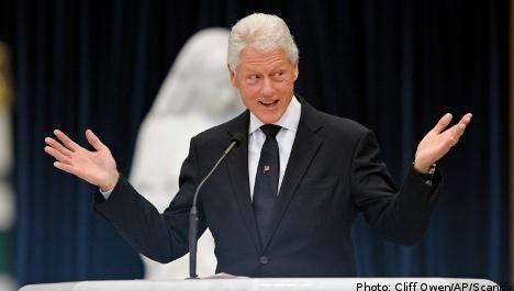 Clinton praise as Sweden woos Davos