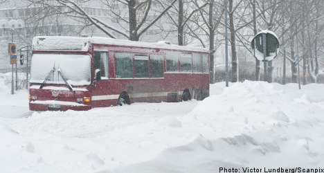 One million Swedes hit by winter bus chaos