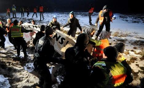 Activists injured in nuclear waste train blockades overnight