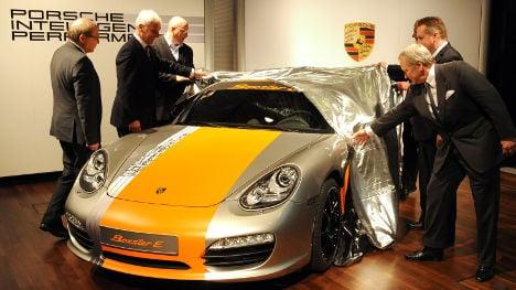 Porsche unveils electric roadster