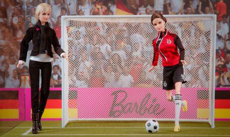 German women's football team star and coach get Barbie dolls