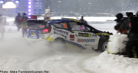 Swede Andersson leads Swedish rally in Karlstad