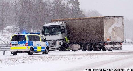 Heavy snow wallops central Sweden