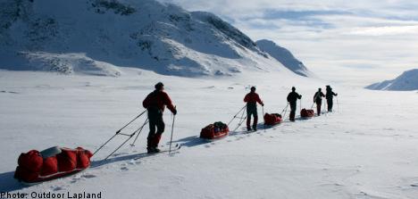 On skis in Sweden's wild, wild north