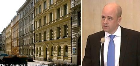 Reinfeldt under fire over housing comments