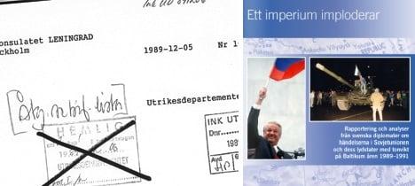 Soviet-era files reveal Swedes' civil war fears