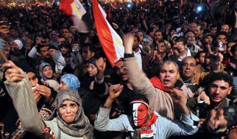 Merkel hails departure of Egypt's Mubarak