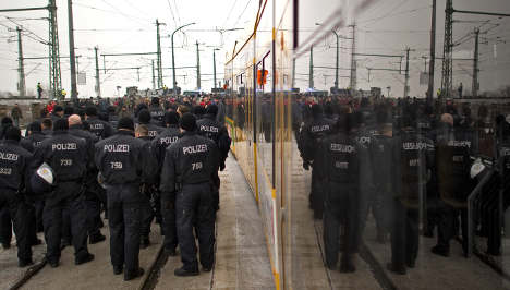 Neo-Nazis and protestors fill a tense Dresden