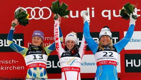 Anja Pärson claims world bronze