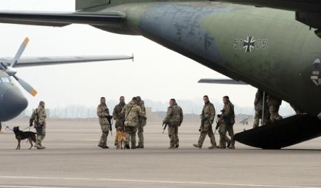Bundeswehr soldiers return from Libya