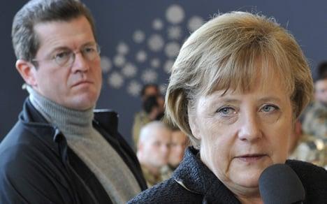 Merkel under fire in Guttenberg affair
