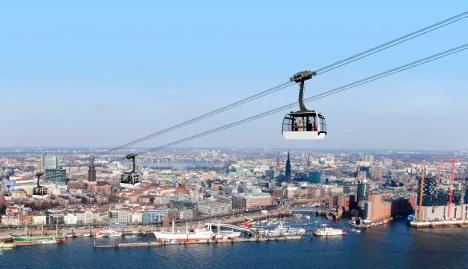 Hamburg mulling harbour gondola line