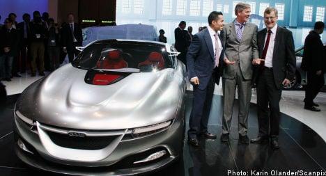 Saab rolls out futuristic concept car in Geneva