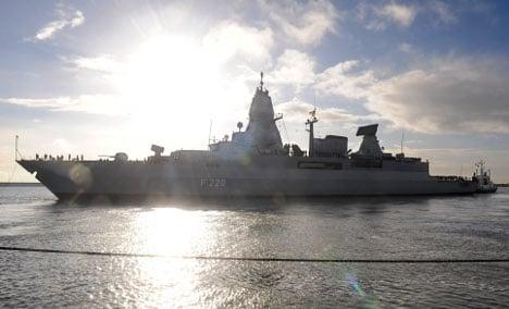 German warships won't enforce Libyan embargo
