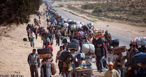 Sweden offers aid for Libya refugee effort
