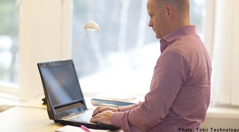 Swedish firm unveils eye-controlled laptop