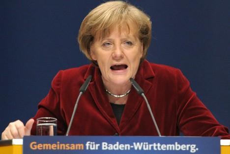 Merkel blames 'painful defeat' on Japan fears