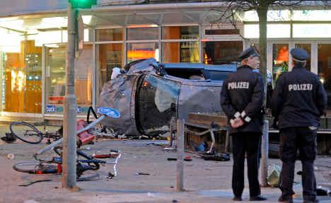 Car plows into Hamburg pedestrians, killing four