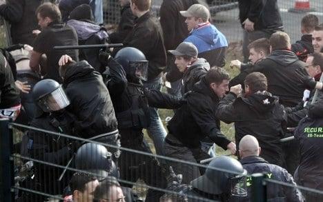 Violence ahead of Bundesliga match