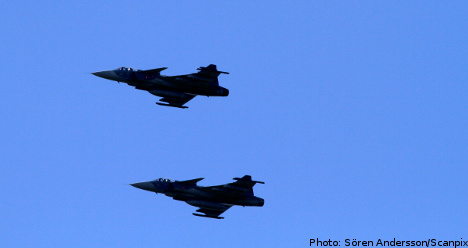 Swedes join NATO Baltic air exercise
